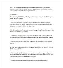 Sample Tutor Resume Template Oursearchworld Com
