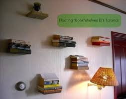 diy shelves floating books