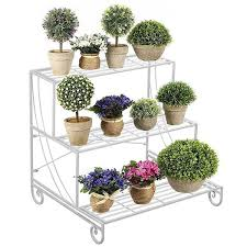 3 tier stair style metal plant stand