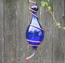 hummingbird feeder cobalt blue