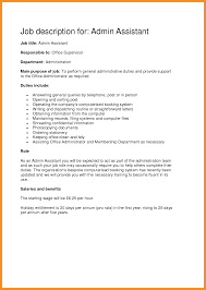 Administrative Assistant Job Duties Resume Resume Administrative Assistant Job Description Unique Office 19