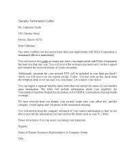 sample letters of termination 35 perfect termination letter samples lease employee contract