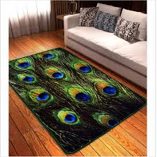 80x120cm 3d chinese style peacock feathers carpets for living room soft and luxurious rugs and carpets door mat bedroom area rug berber carpet s ing