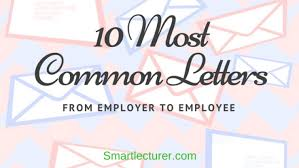 10 Most Common Letters From Employer To Employee With Samples
