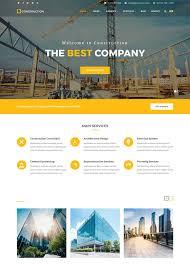 Construction Website Templates Unique 48 Best Architecture Construction Website Templates 48