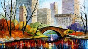 central park new york print on canvas by leonid afremov size 40