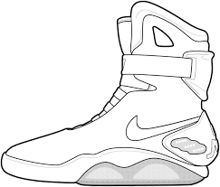 Coloring Pages For Shoes In Jordans Coloring Coloring Home