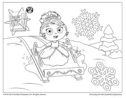Small Picture Super Why Coloring Page Princess Presto Sledding Happy Holidays