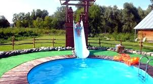 Above Ground Swimming Pool Slides Homemade Pool Slide Home Swimming