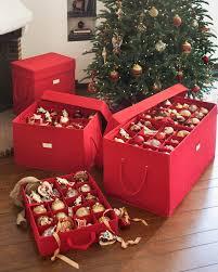 Image of: Ornament Christmas tree Storage Bin