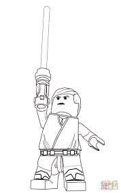 Coloriage Lego Star Wars Luke Skywalker L L L L L L L