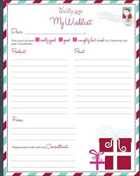 List Wish Christmas Template Free Printable Shopping Castillofamily Co