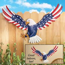 patriotic eagle metal wall art