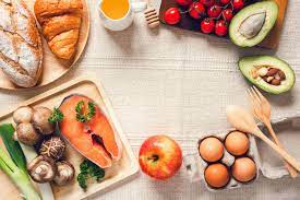 Table top view of healthy foods 1226538 Stock Photo at Vecteezy
