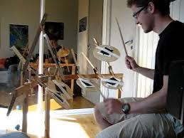 homemade digital drum set played by