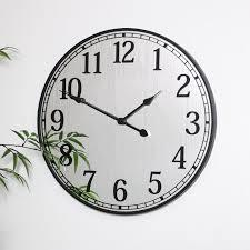 black mirrored wall clock