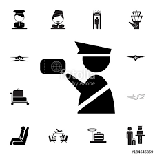 Web Design Office New Customs Officer Icon Immigration Officer With Passport Set Of