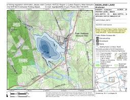 Highland Lake Andover Topo Map 1 How To Catch More And