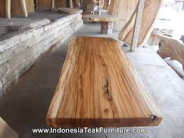 large wooden table live natural edge countertops