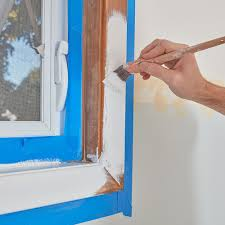 Hide ragged edges of drywall or plaster around doors and windows. Paint Your Window Trim Easily And Mess Free