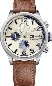 tommy hilfiger casual sport leather chronograph men s watch 1791239