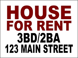 for rent sign template yard signs bandit signs road side sign coroplast corrugated plastic