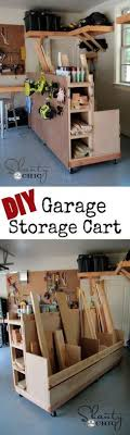 diy tool storage cart. diy garage storage cart! perfect to hold wood and all the goodies in your diy tool cart