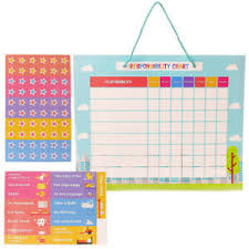 Details About Good Behaviour Chart Magnetic Responsibility Chart For Wall Or Refrigerator