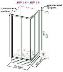 <b>Стенка душевого</b> уголка RAVAK SUPERNOVA SRV2-75 S ...