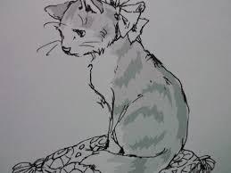 猫ページ完成パリの旅より 塗り絵日記
