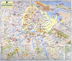 tourist map of amsterdam city amsterdam roads map maps of public