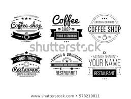 Vintage Logo Vector Vintage Logo Coffee Shop Template Restaurant Stock Vector Royalty