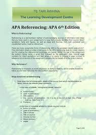 apa referencing apa 6th edition