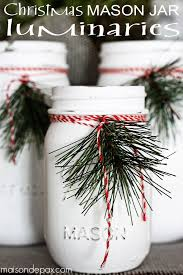 Ideas For Decorating Mason Jars For Christmas Mason Jar Luminaries Mason Jar Crafts Love 8