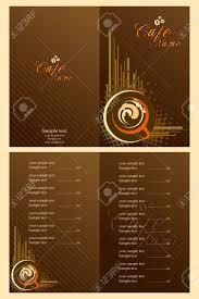Menu Card Template Illustration Of Set Of Menu Card Template For Cafe