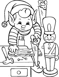 Free Printable Christmas Elf Coloring Pages Festival Collections