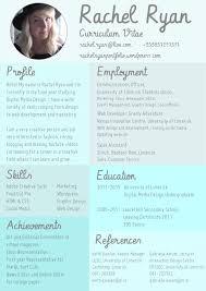 about me rachelryanportfolio creative cv