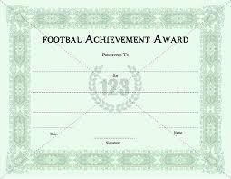 Football Certificate Template Stunning Best Player Football Certificates Templates Download Now