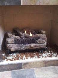 reflective glass instead of lava rocks in gas fireplace