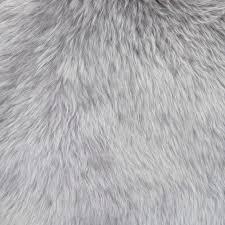 grey fur rug sheepskin quad faux
