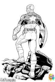 Captain America Winter Soldier Coloring Page