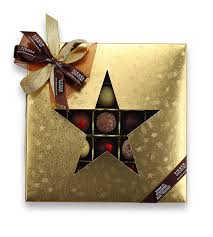 Pralinenset Weihnachtsstern 25er Selection Gold