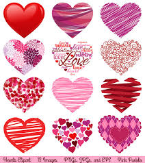 valentine s day hearts clip art. Perfect Hearts Valentineu0027s Day Hearts Clipart Clip Art Love Art  Commercial  And Personal 600 Via Etsy On Valentine S