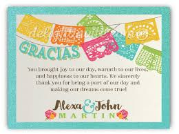mexican wedding invitations. mexican fiesta papel picado flags wedding thank you cards invitations