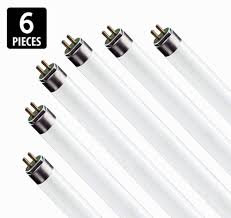 6 pack f17t8 865 17w 24 inch t8 fluorescent light bulb 6500k daylight white um bi pin g13 base 17 watt t8 light bulbs