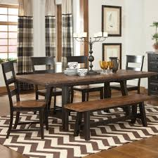 Metal And Wood Kitchen Table Winchester 6 Piece Trestle Table Set By Kalan Furniture Stuff