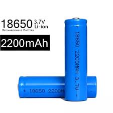 02 pin sạc 18650 lsy công suất thực 2200mah dùng cho box sạc, cell laptop, đèn  pin, mic...hiệu suất chuyển đổi năng lượng cao (1 viên-đầu bằng) pin 18650  cell pin laptop