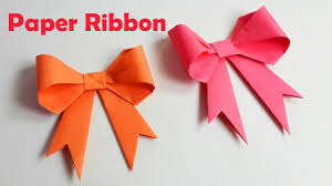 How To Make Paper Ribbon How To Fold A Paper Bow Easy Origami Bow Ribbons Origami Crafts