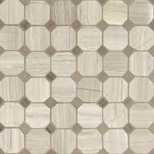 ms international white oak octagon 12 in x 12 in x 10 mm honed marble mesh mounted mosaic tile 10 sq ft case whtoak 2oct the home depot