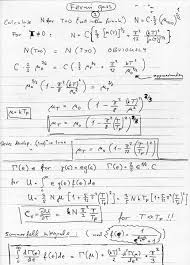 states available for fermi gas fermi momentum fermi energy fermi temperature sommerfeldt s method to evaluate the integrals scanned handwritten notes